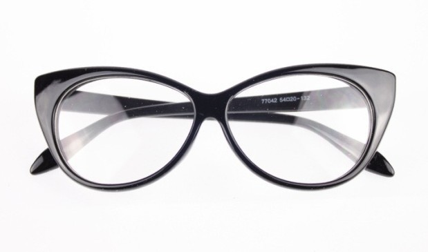 Free Shipping Hot Sale 2016 New Designer Cat Eye Glasses Retro Fashion Black Women Glasses Frame Clear Lens Vintage Eyewear(China (Mainland))