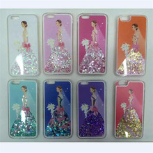 Dynamic Colorful Wedding Dress Quicksand Phone Cases for Apple iPhone 6 Case for iPhone 6S 6 Plus Glitter Sand Cover Wholesale(China (Mainland))