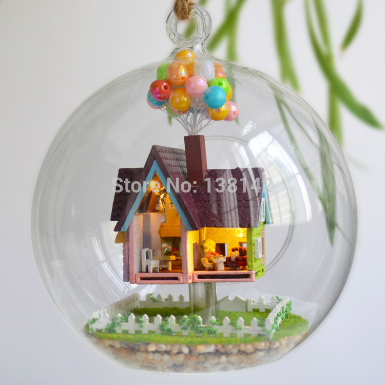 B006 flying house diy doll house in Glass ball dollhouse(China (Mainland))