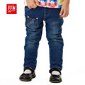 2015 hight quality kids thick pants girls winter warm jeans buds pocket design for baby winter