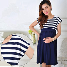 2016 New Women Long Dresses Maternity Nursing skirt for Pregnant Women Breastfeeding Women's Clothing Mother Home Clothes L/XL(China (Mainland))