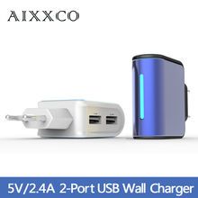 2.4A Dual USB EU phone charger without cable Travel Charger for samsung iPhone HTC etc(China (Mainland))