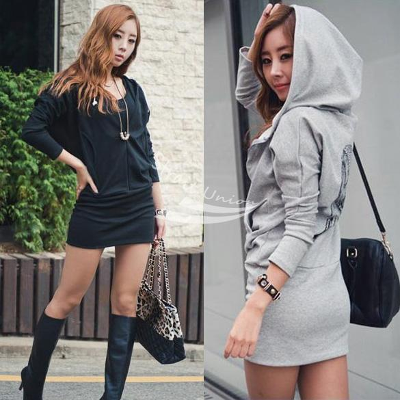 2015 Rushed New Print Casual Pullovers Cotton Full Tracksuits Sports Suit Women Lady Wings Printed Behind Long Hooded Zipped 20(China (Mainland))