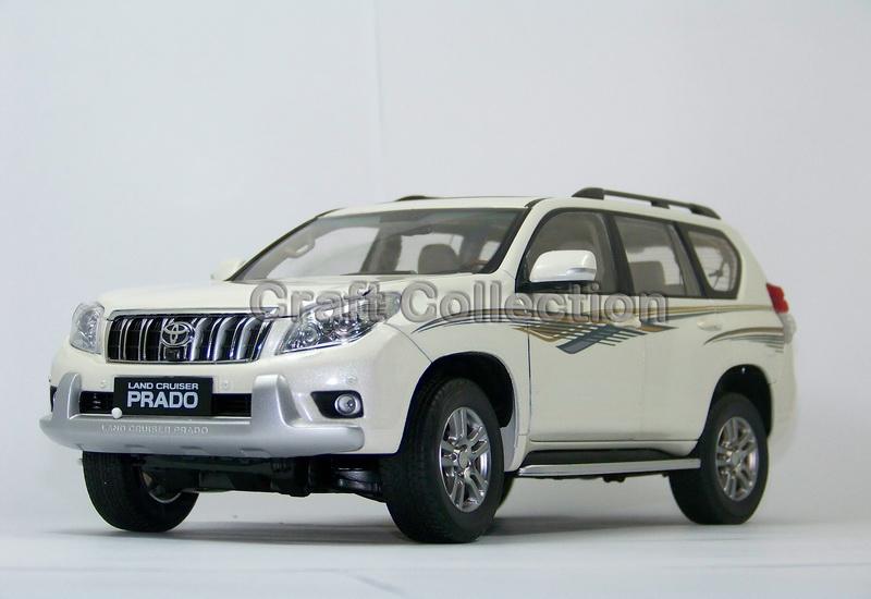 Hot White 2010 1:18 New TOYOTA Land Cruiser Prado Diecast Model Cars Classic Jeep SUV Classic(China (Mainland))