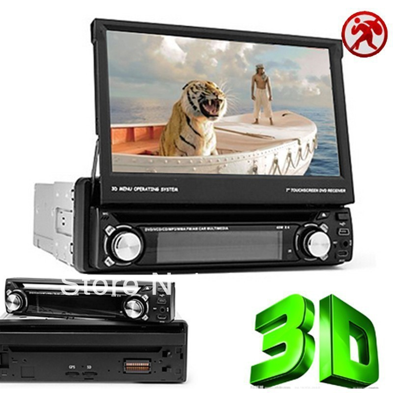 "universal 1 Single Din 7"" Detachable Car DVD player GPS, audio Radio stereo, 3D PIP FM,USB/SD,Bluetooth/TV,digital touch screen(China (Mainland))"