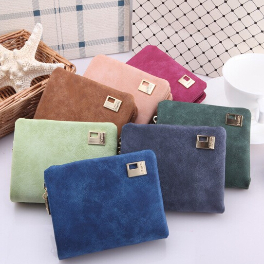 Three Fold Purse Fashion Retro Women Wallets PU Leather Vintage Short Women Coin Purse Lady Card Wallet monederos mujer 7 color(China (Mainland))