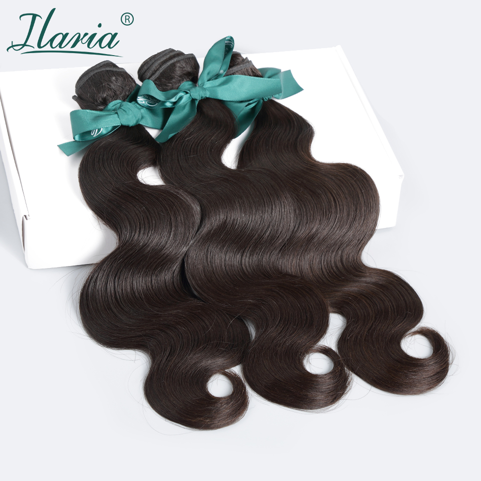 ILARIA Hair Products Brazilian Virgin Hair Body Wave Grade 8A 100% Brazilian Hair Weave Bundles Unprocessed Human Hair Extension(China (Mainland))