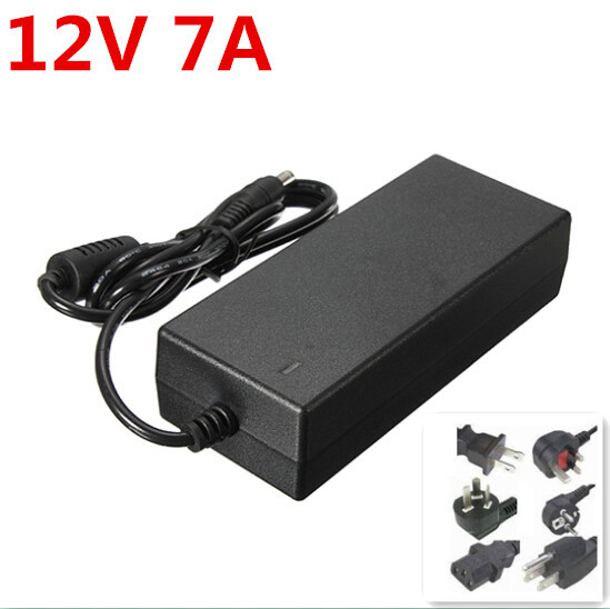 DC 12V 7A power supply AC 100-240V 84W adapter 5050 5630 led strip 5 - Elsa Carrie's store