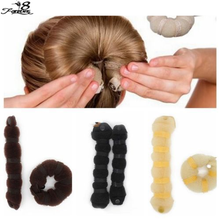 2017 Fashion Hair Tools Elegant Magic Style Buns Hair Rope 3 Colors Hairband Hair Accessories (1pack=1pc small+1pc large)(China (Mainland))