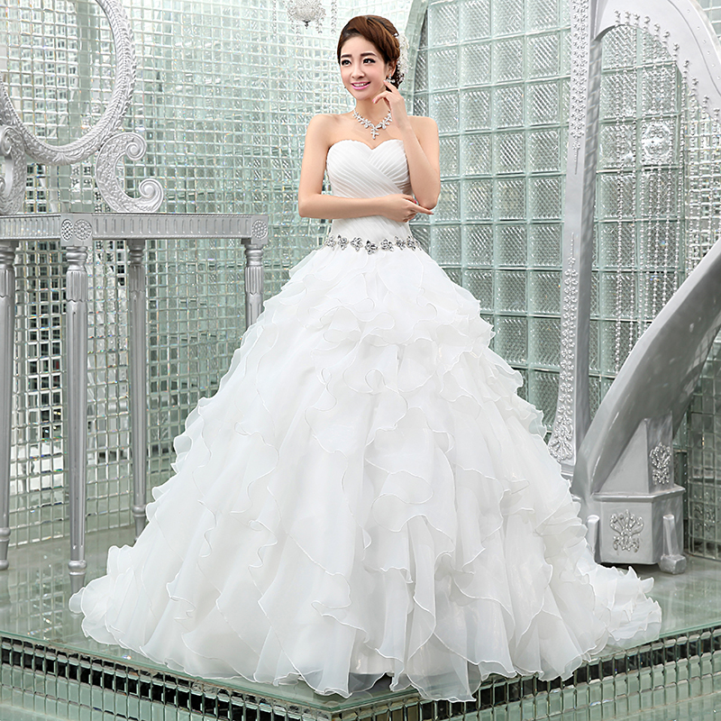 Europe United States Special Tail Wedding 2015 Spring New Princess Bride Beautiful Slim In