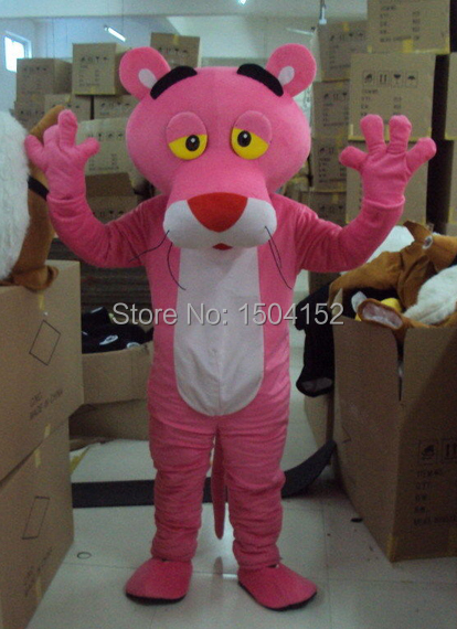 Adult Pink Panther Mascot Costume sales Fancy Dress Pink Panther Mascot Costume Free Shipping(China (Mainland))