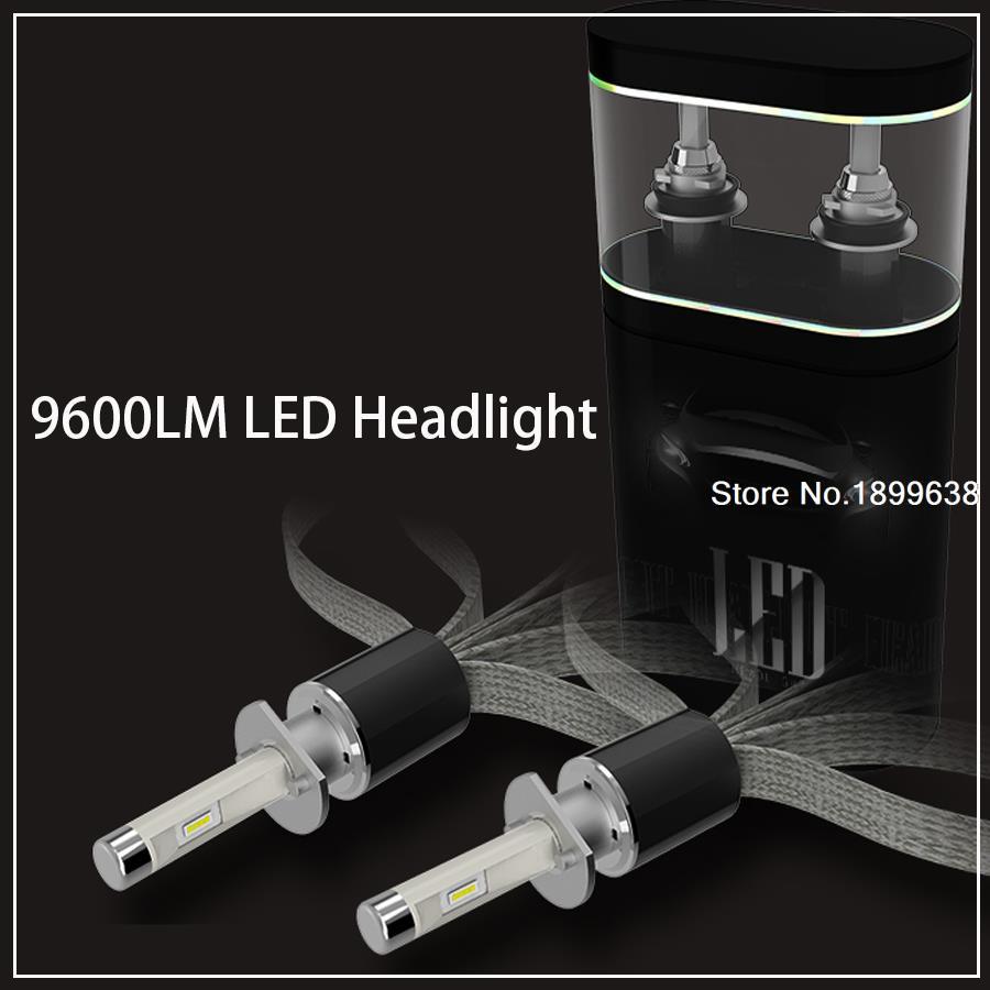 Super Bright 2pcs Car 9600lm LED Headlight fog light Kit 9005 9006 9012 D4C H1 H3 H4 H7 H11(China (Mainland))