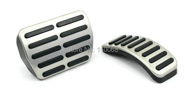 Stainless Car pedal Cover for AT Volkswagen VW Polo Bora Lavida Golf MK4 New Jetta Santana Beetle Clutch Brake Gas pedals pads(China (Mainland))