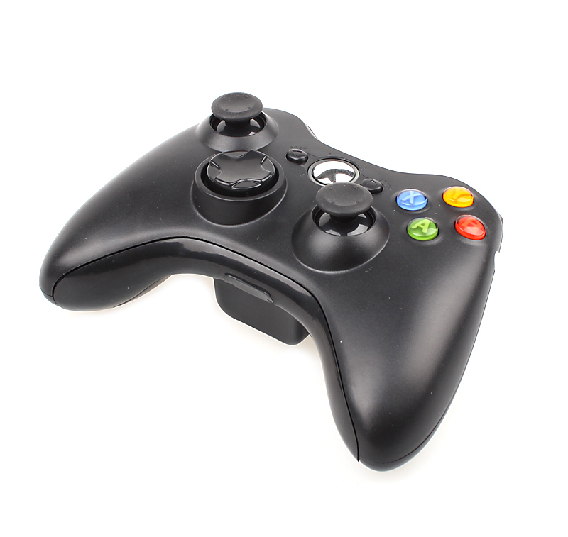 Wireless Gamepad Controller For XBOX 360 Wireless Black Color Joystick For Official Microsoft XBOX Game Controller(China (Mainland))