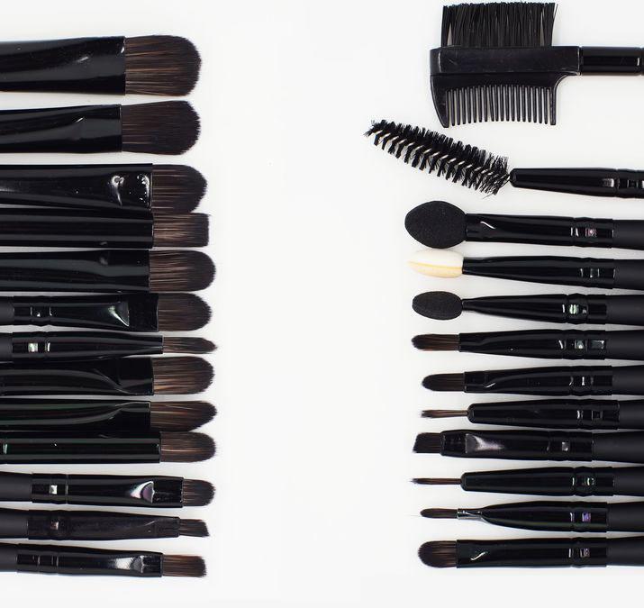 Big Discount !! 32 PCS Pro Makeup Brush Set & 32 brushes + Black  Pu Leather case & Make up Brushes cosmetic Sets Makeup bursh
