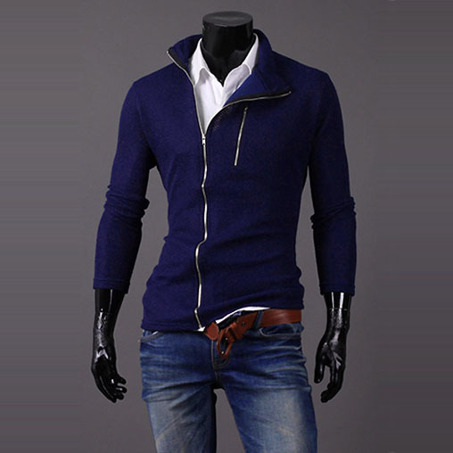 2015 New Arrival Asymmetrical Sweater Men Zipper Designer Knitted Cardigan Men Sueter Slim Fit Cheap Mens Sweaters Jersey Hombre(China (Mainland))