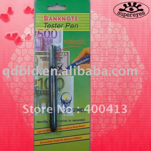 Money Tester Pen free shipping to Colombia(China (Mainland))
