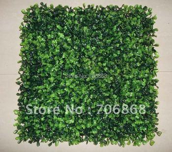 "Free shipping artificial UV boxwood mat 100 pcs of 10""*10"""