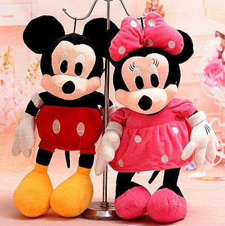 Style 30cm Mickey Mouse Minnie Plush Toy Doll Toys Children Chirstmas Gift - Joyful Fairy store