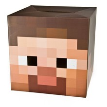 """Free Shipping Minecraft Costume Toy 12"""" Full Face Mask Cosplay Steve Cardboard Heads Kids Toys Birthday & Christmas Gifts(China (Mainland))"""
