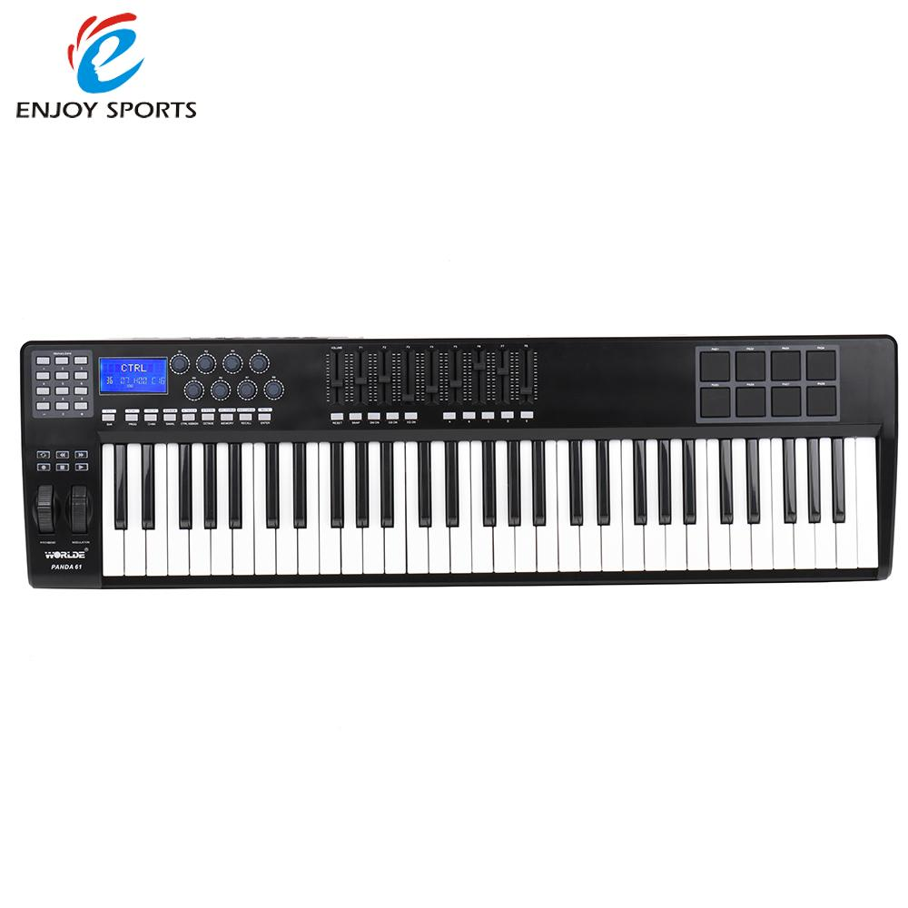 PANDA61 61-Key USB MIDI Keyboard Controller 8 Drum Pads with USB Cable(China (Mainland))