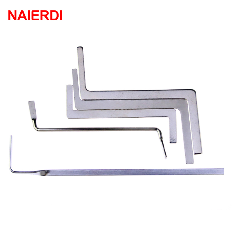 NAIERDI 5pcs Locksmith Tools Stainless Steel Double Row Tension Tool Removal Hooks Lock Kit(China (Mainland))