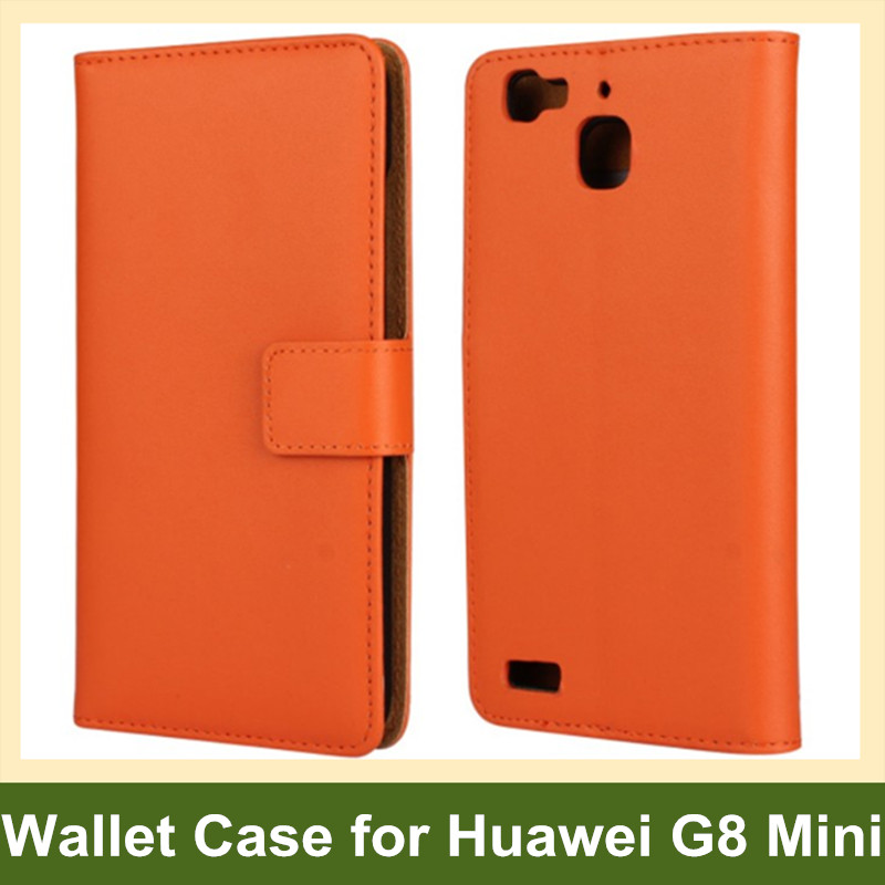 Popular Genuine Leather Wallet Folding Flip Cover Case for Huawei G8 Mini with Stand Holder 10pcs/lot Drop Shipping