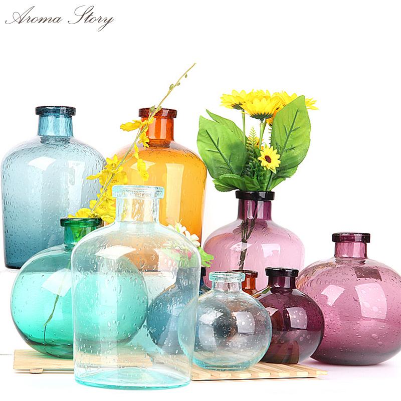 online kaufen gro handel glas vase rot aus china glas vase. Black Bedroom Furniture Sets. Home Design Ideas