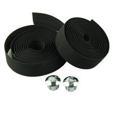 Free Shipping Cycling Handle Belt Bike Bicycle Cork Handlebar Tape Wrap +2 Bar Plug Handle bar tape Black