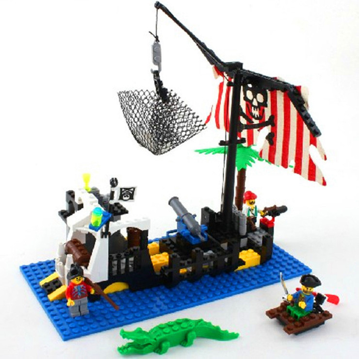 Enlighten Pirate Series Bricks Pirate Command Center Pirate Ship Model  Building Blocks Sets Minifigures Compatible With Lego