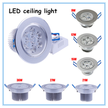 LED Down Light  1W 9W 15W 21W 27W 36W 45W  AC220V  ceiling lamp LED Spotlight   LED Bulb lamp(China (Mainland))