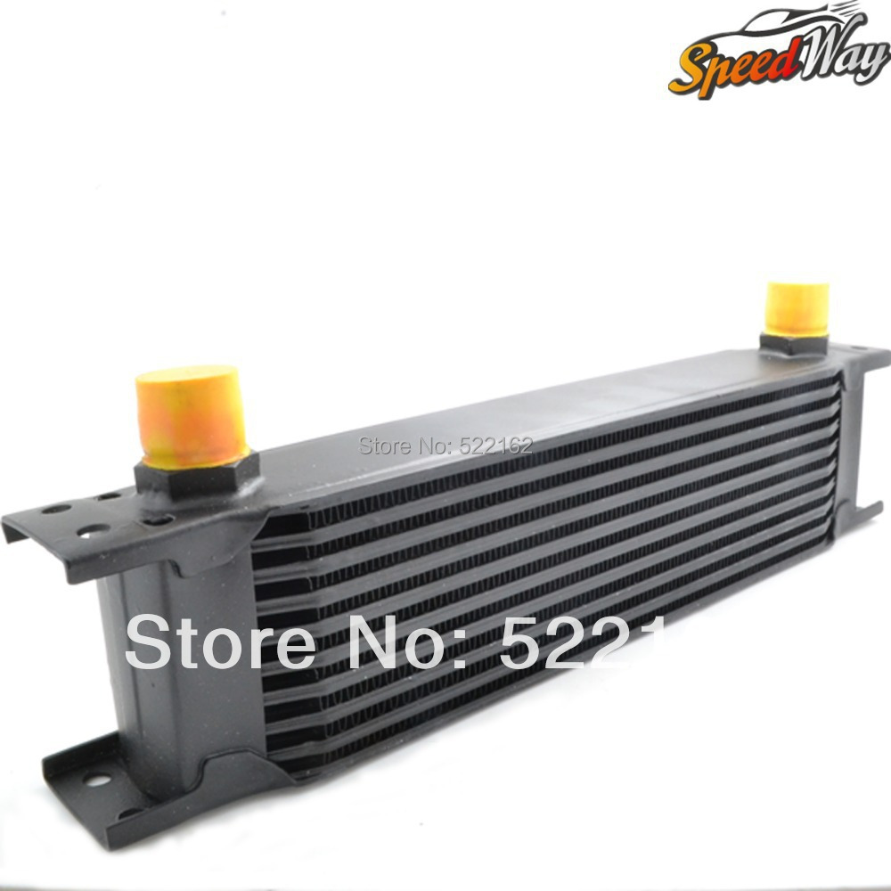 10 ROW AN10 universal aluminum engine transmission racing oil cooler high quality radiator<br><br>Aliexpress