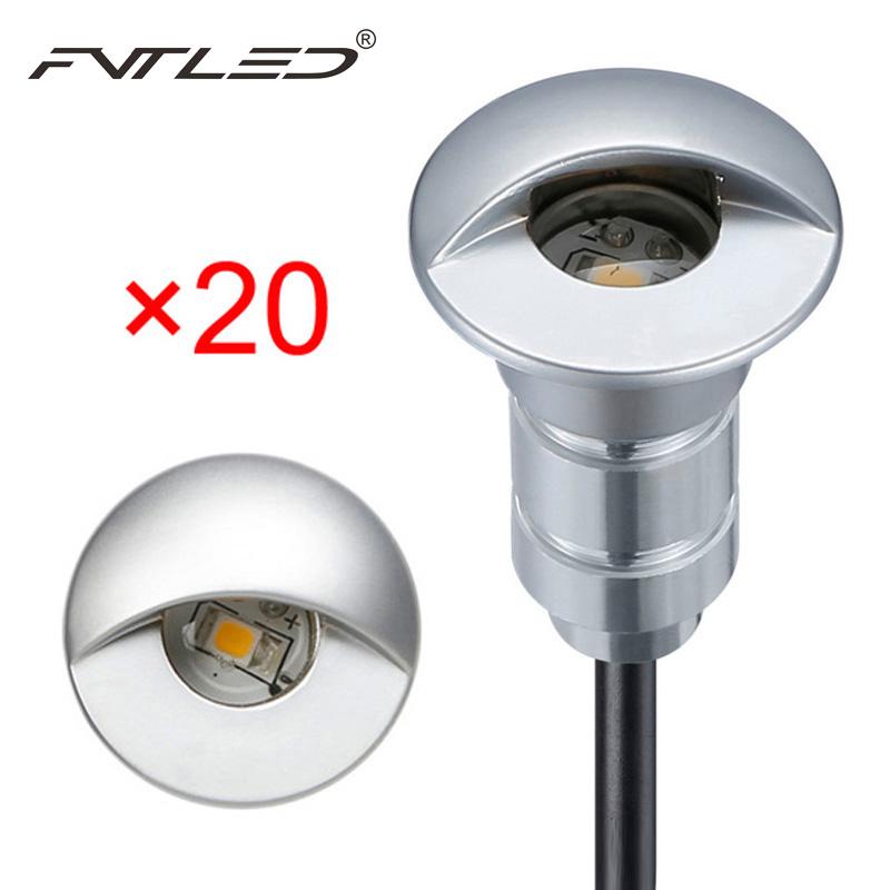 fvtled 20pcs lot sensor photocell underground light 12v led step wall deck lights recessed ip65. Black Bedroom Furniture Sets. Home Design Ideas