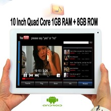 New 10 Inch Original 1GB 8GB Android Quad Core Tablet pc Android 1G RAM 8G ROM