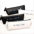 Best Deal Triangle My Pencil Case Classical Black And White Color Waterproof PU Leather Storage Cosmetic