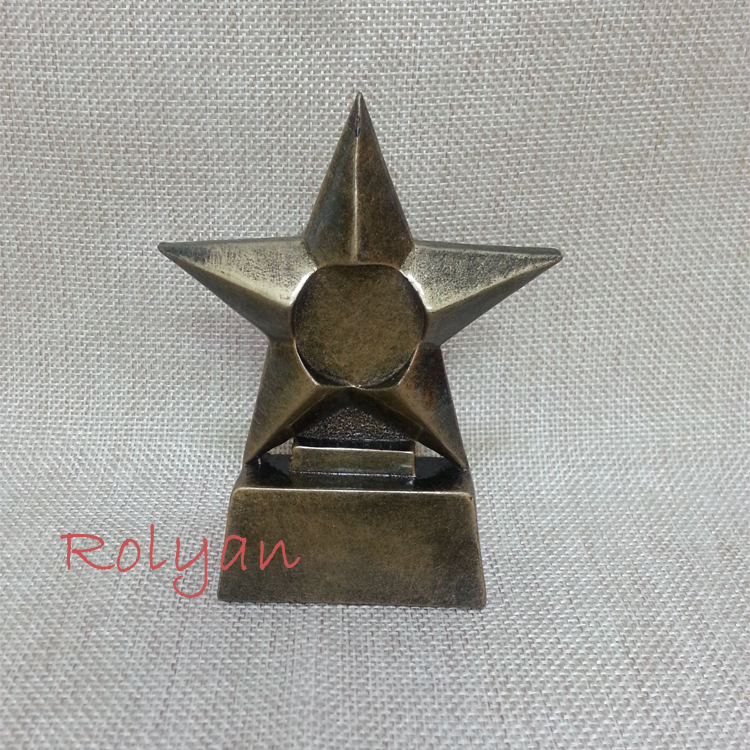coin antique decor cute cabochons handmade resin crafts gold figurine Five-pointed star sports Souvenir 7*3*10 free shipping(China (Mainland))