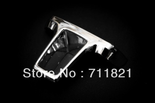 Car Styling Chrome Steering Wheel Bottom Stick On Insert For Volkswagen For VW Golf MK6(China (Mainland))