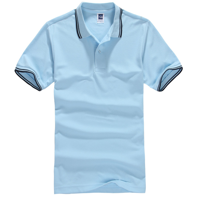 Polo shirt mens clothing solid men golf jersey men polo for Business casual polo shirt