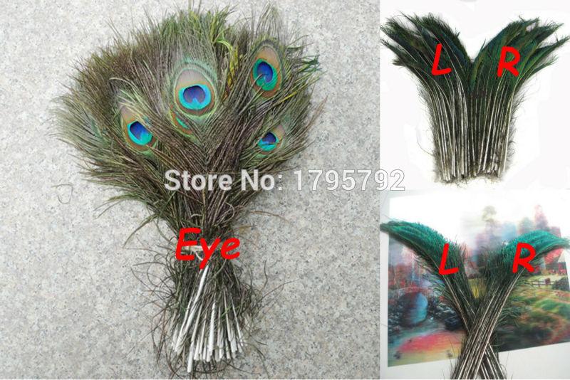 Wholesale 50pcs 30-35cm Natural Peacock Sword Feather and 50pcs 25-30cm Natural Peacock Feather Eyes Wedding Decoration Carft(China (Mainland))