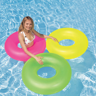 Intex swimming ring high quality neon color inflatable adult swim ring adult general bunts(China (Mainland))