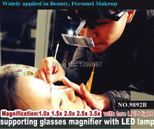 No. 9892B gafas diadema intercambiables lupa con luces LED