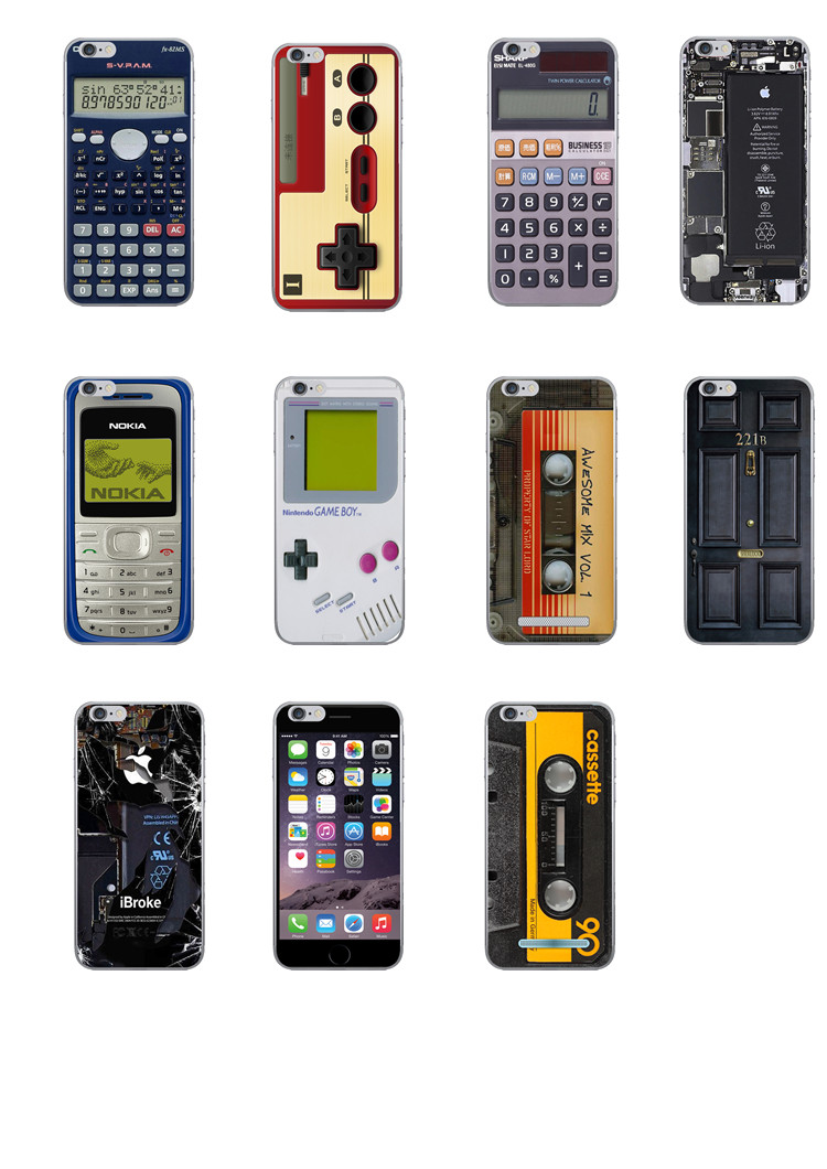 NEW Retro machine Exterior pattern Calculator Game Magnetic tape And other retro look design phone case for iPhone 5 5S shell(China (Mainland))