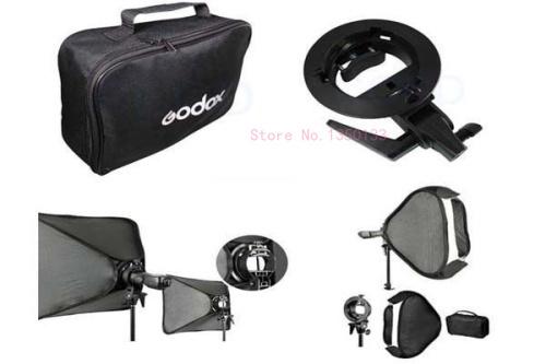 Adjustable Pro Godox S-Type Bowens Mount Bracket Holder + Portable 60cm Soft Box<br><br>Aliexpress