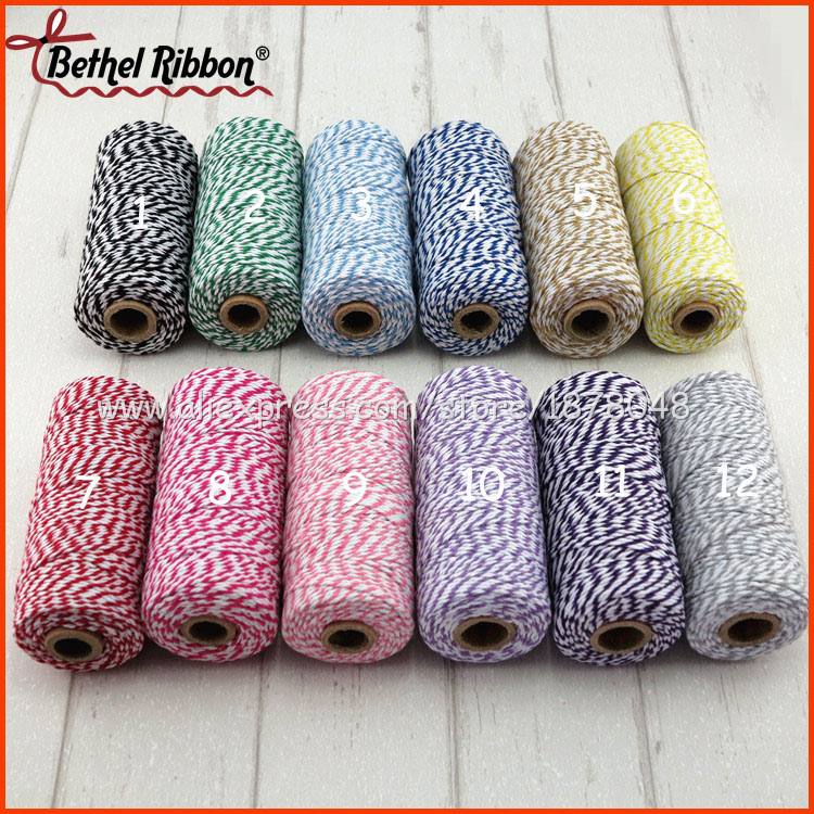 More discount 100m 12ply free shipping cotton twine baker rope baker twine(China (Mainland))