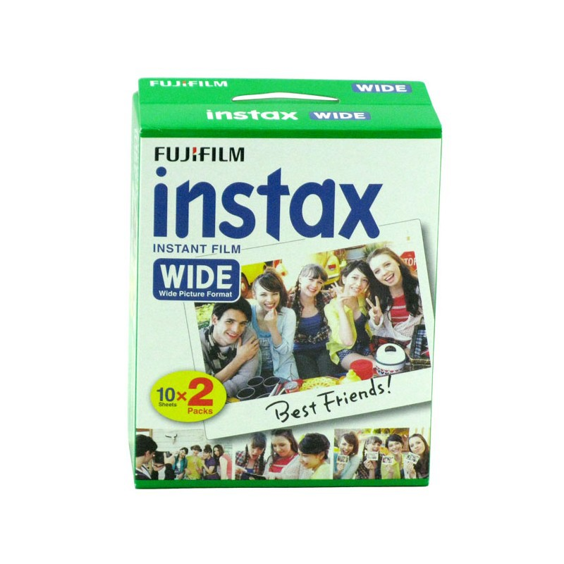 Fujifilm Instax Wide Film Plain Edge Twin Pack Version (Total 20 Photos) Instant Film for fuji 210200 Instant Camera photo paper(China (Mainland))