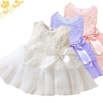 Hot! Retail 1pcs/lot girls dresses summer 2015 princess dress white baby  lace cute clothes 3colors LF9989