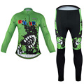2016 Men s GEL Breathabkle Footprint Cycling Jersey Outdoor Sports Cycling Bicycle Clothes MTB Bike Long
