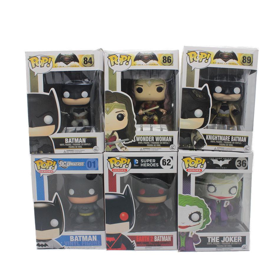 Funko POP movie The Joker Wonder Woman Batman VS Superman Dawn of Justice DC vinil Vinyl figure Action Figure Model Kids Toys(China (Mainland))