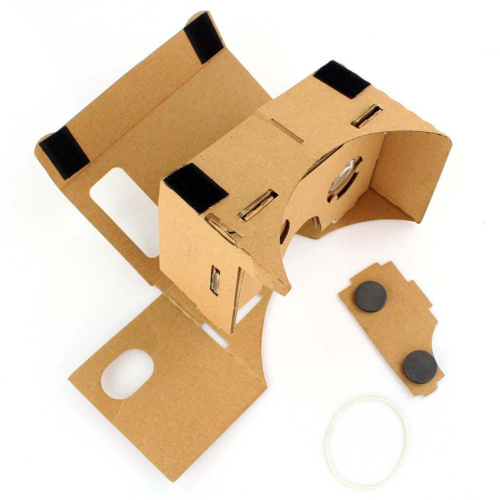 High Quality Google Cardboard VR Virtual Reality 3D Glasses for Mobile Phone 5.0 Screen DIY 3D VR Google Glasses Free shipping(China (Mainland))