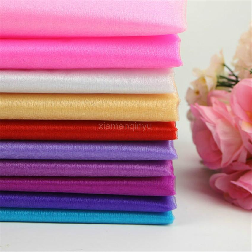 2016 48CM*500CM Roll Crystal Tulle Plum Organza Sheer Gauze Element Table Runner Wedding Party Decoration Free Shipping 6ZSH015(China (Mainland))
